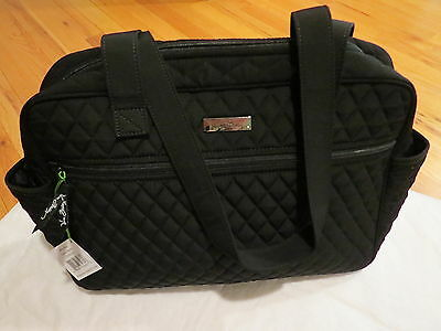 Vera Bradley Baby Bag Classic Black w/changing pad $119 Authentic New NWT