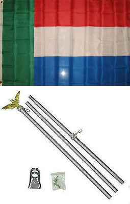 3x5 Bosnia Bosnian Republic 1992-1998 Flag Aluminum Pole Kit Set 3/'x5/'