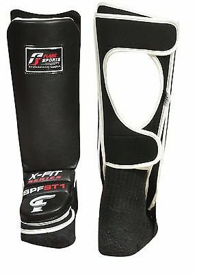 Flare Shin Instep Protectors Foot Legs Guards Pads Kick Boxing MMA Muay Thai
