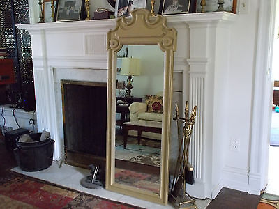"Large Antique Mirror, Federal Gold, Original Patina, 54"" x 20"""