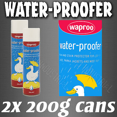 Waproo Waterproffing Spary - Water Proof Leather & Fabric --- x2 CANS ---