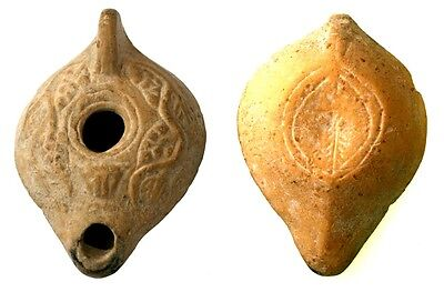 Roman Oil Lamp with Lioness Head, Grapes and Leaves, 1-4th Century AD