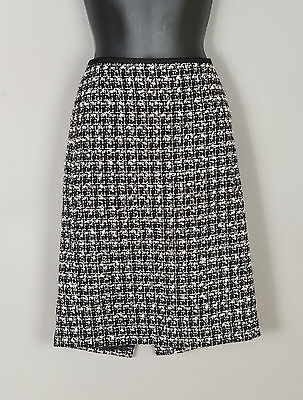 Women's Talbots Lined Pencil Skirt - Black and White - Size 2 petite