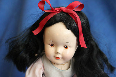 """Rare Antique Madame Alexander Snow White Doll 13"""", painted brown eyes"""