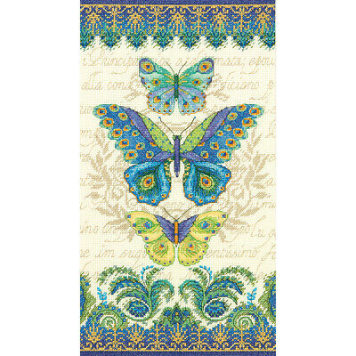 """""""Peacock Butterflies Counted Cross Stitch Kit-8""""""""X15"""""""" 14 Count"""""""