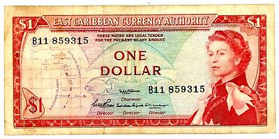 East Caribbean States … P-13a … 1 Dollar … ND(1965) … *F*