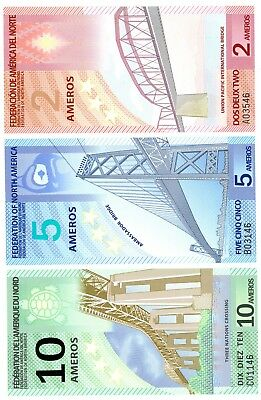 Federation Of North America ... P-NL ... 2-10 Ameros Set ... (2011) ... *UNC*