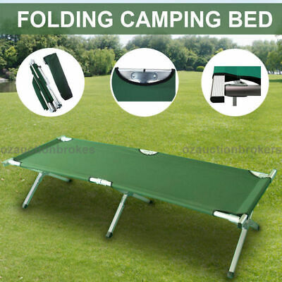 Foldable Camping Bed Stretcher Portable Light Weight Outdoor Hiking Travel Green