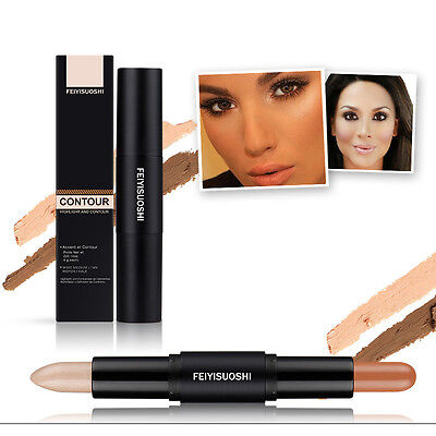 Dual 2 in 1 Maquillage Contouring Cream Contour Crayon Bronzer Highlighter Stick