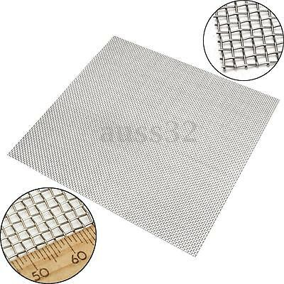 """Stainless Steel 10 Mesh Silver Wire Cloth Screen Filtration Filter 12""""x12"""""""