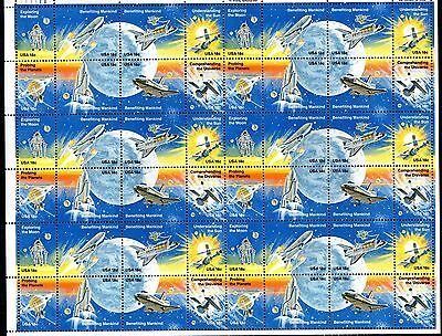 USA 1981 Space Achievements MNH complete sheet (will be folded) SC#1912-9 WS1257