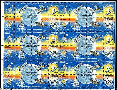 USA 1981 Space Achievements MNH complete sheet (will be folded) SC#1912-9 WS1258