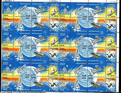 USA 1981 Space Achievements MNH complete sheet (will be folded) SC#1912-9 WS1259
