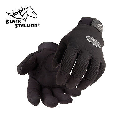 99PLUS-BLK ToolHandz® Synthetic Leather Mechanic's Gloves