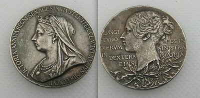 Collectable Commemorative 1837-1897 Queen Victoria  Medal - Nice Toning