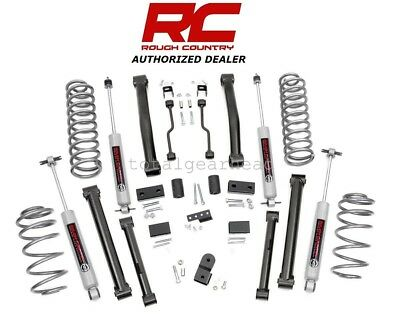 "1993-1998 Jeep ZJ Grand Cherokee 4WD 4"" Rough Country Lift Kit w/N3 [900.20]"