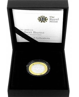 UK 2009 2 Pounds 250th Birth Anniversary of ROBERT BURNS Proof Silver Coin