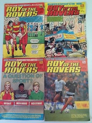 Roy Of The Rovers Comic ~ 4 Editions From June 1985 ~ Free Postage