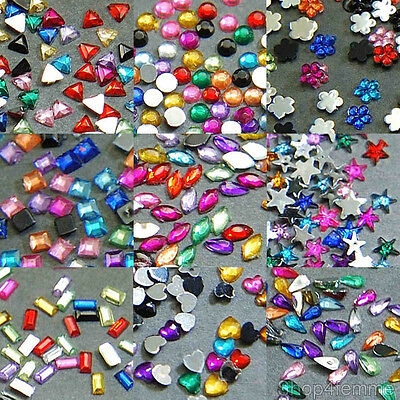Acrylic Nail Art Rhinestones Random Mix Set in Varies Styles and Lots