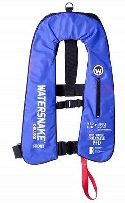 Watersnake Deluxe Auto/Manual Inflatable Life Jacket 150N ISO 12402-3