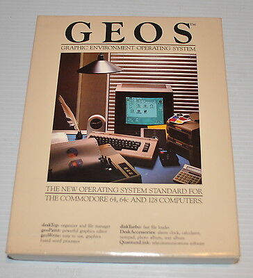 - GEOS Graphic Environment Operating System Commodore 64, 128 Computers -