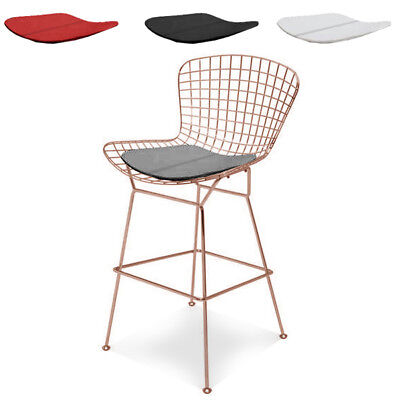 Marvelous Modern Bertoia Counter Stool With Seat Pad Wire Counter Beatyapartments Chair Design Images Beatyapartmentscom