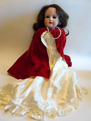 Antique Germany ARMAND MARSEILLE #370 Bisque Dressed Doll With Leather Body