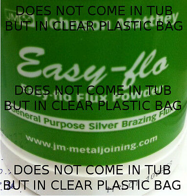 Easy flo Flux Powder 25 grams. Johnson and Matthey, Jewellers, silver soldering