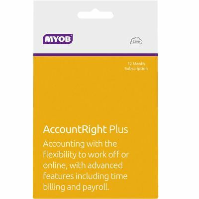 MYOB AccountRight Plus 1 PC 12 Months Card