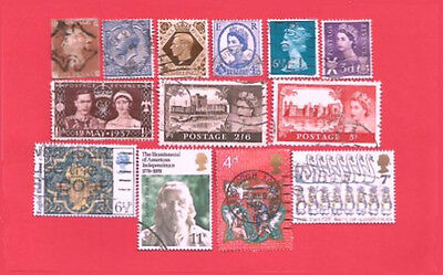 50 Different Great Britain Stamps - Packet of Older UK Stamps
