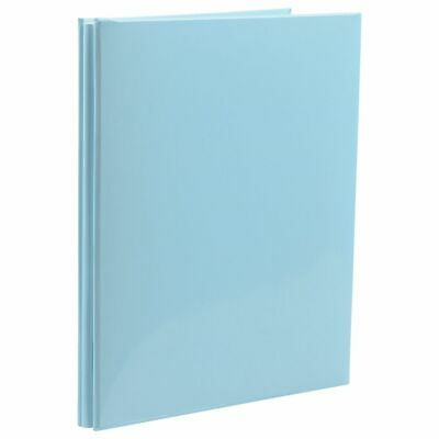 NCL 20 White Page Refillable Self-Adhesive Photo Album Blue