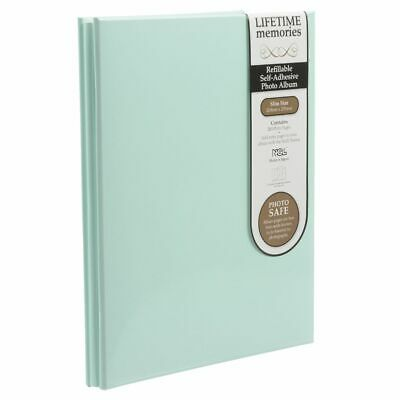 NCL 20 White Page Refillable Self-Adhesive Photo Album Green