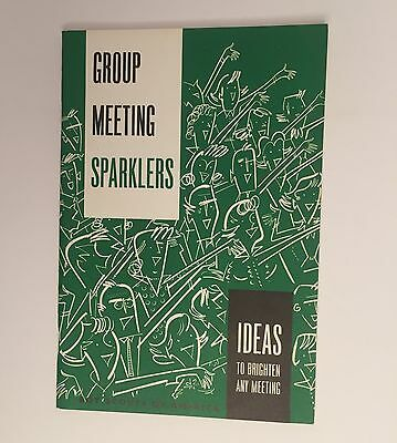 Group Meeting Sparklers - Vintage Boy Scouts of America Book