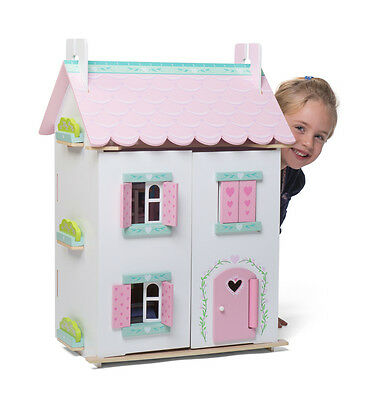 Le Toy Van Sweetheart Cottage - Kids Wooden Dolls House with Furniture