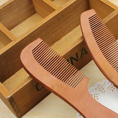 Beauty Handmade Sandalwood Anti-Static Comb Beard And Mustache Comb Hair Brush