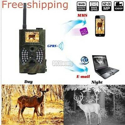 New Outdoor HC-300M LCD Digital Camera Video Scouting Infrared HD 12MP MMS GPRS