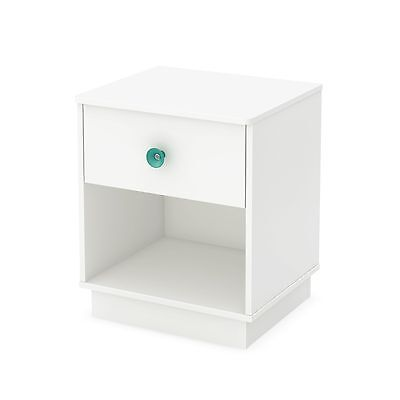 South Shore Furniture Little Monsters 1-Drawer Night Stand Pure White