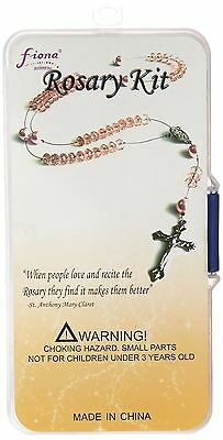 Linpeng Do it Yourself Crystal and Pearl Beads Rosary Kit Rhodochrosite