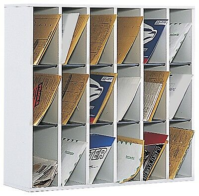 Safco Products 18 Compartment Mail Sorter Gray 7765GR