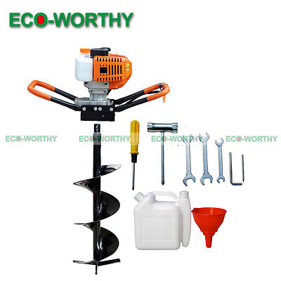 New 52cc 1.8KW Petrol Post Hole Digger Earth Auger 700mm Drill Fence Borer Bits
