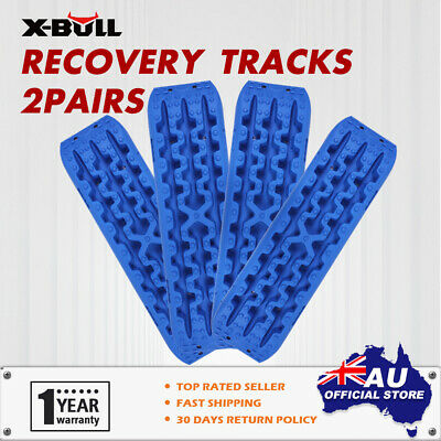 X-BULL NEW Recovery Tracks Sand Mud Snow Grass Tracks  4X4 ATV Off Road Blue