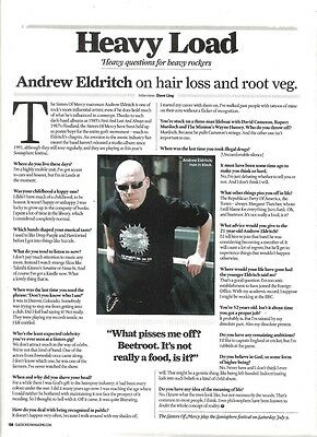 SISTERS OF MERCY 'Andrew Eldritch rants' UK ARTICLE / clipping