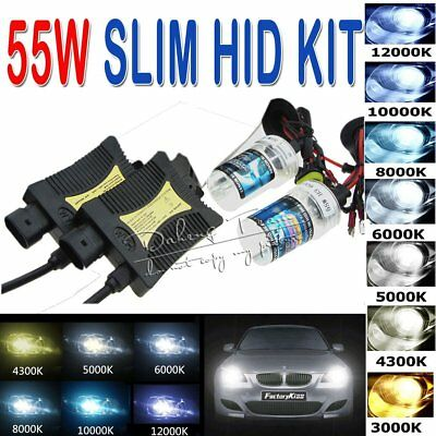55W HID Xenon Headlight Conversion KIT OR Bulbs H1/H3/H4/9005/9006/880/881/9004