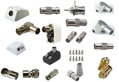 Coaxial Connector TV Aerial Connectors F Adaptors Convertors Sockets & Plugs