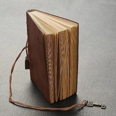 Diary String Key Leather Bound Notebook Brown Collectibles Vintage Journal Write