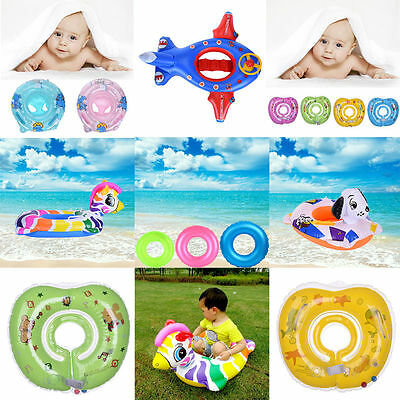 Baby Swimming Neck Float Safety Seat Inflatable Ring Adjustable Safety Aids