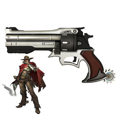 """Exclusive Made Overwatch OW Jesse Mccree Gun Weapon PVC Cosplay Prop 13.7"""""""