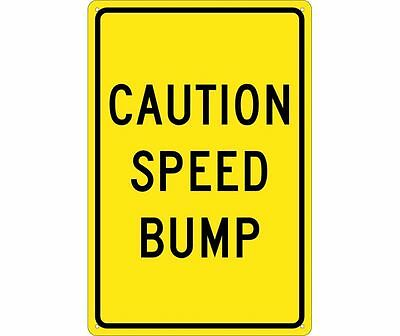 National Marker Sign CAUTION SPEED BUMP SIGN