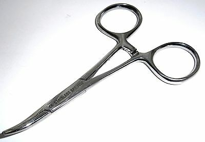 "3.5"" Curved Mosquito Forceps Body Piercing Clamps Surgical Medical Vet"