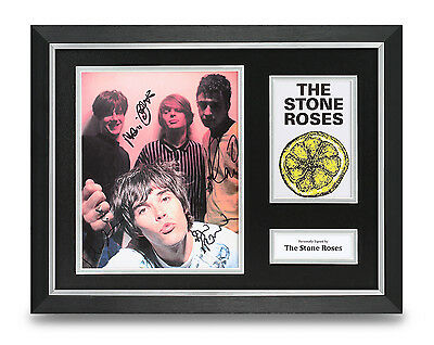 The Stone Roses Signed Photo Framed 16x12 Music Autograph Memorabilia Display